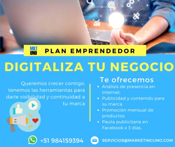 plan emprendedor digitaliza tu negocio marketinguno mkt uno