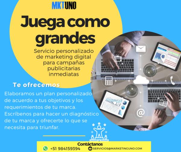 Plan Ligas Mayores Planes mensuales MarketingUNo mktuno