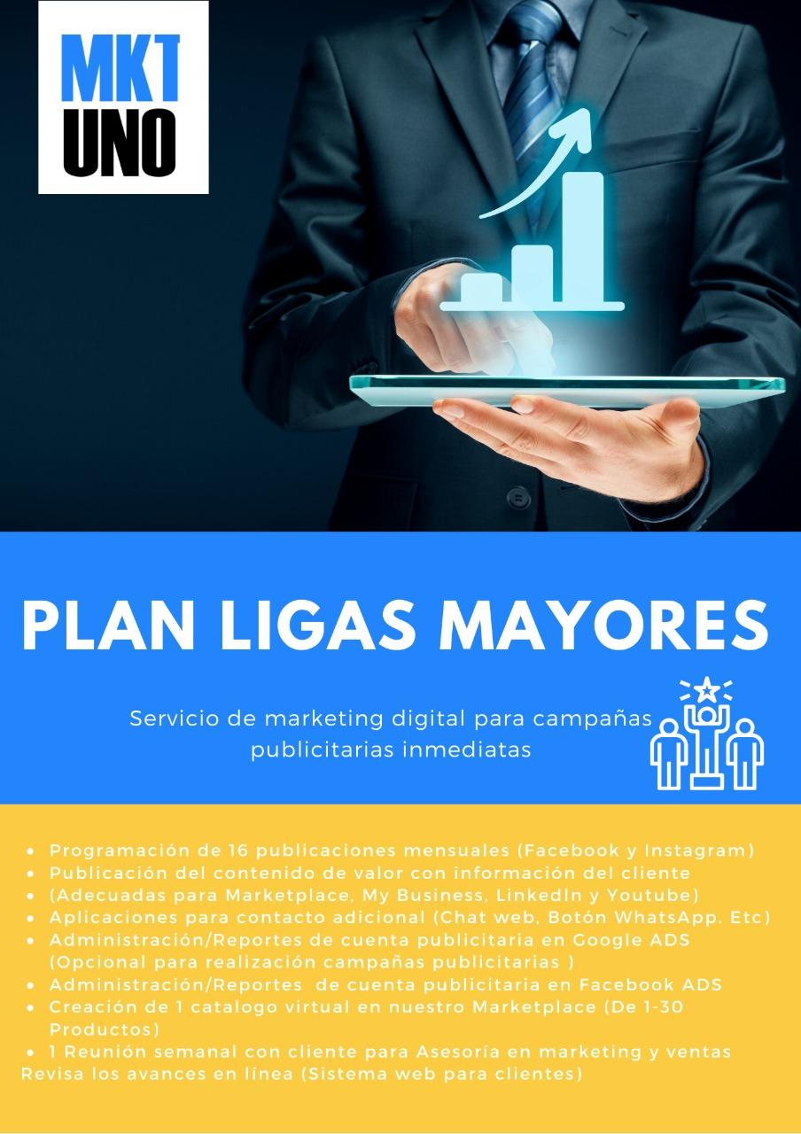 MarketingUNO Publicidad efectiva agencia marketing publicidad digital planes mensuales plan ligas mayores